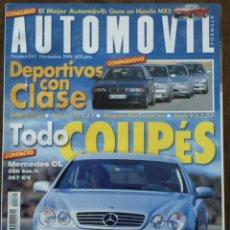 Coches: REVISTA AUTOMOVIL NÚMERO 262 DE NOVIEMBRE 1999 MERCEDES-BENZ BMW AUDI LOLA . Lote 75212743