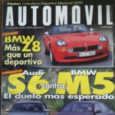 Coches: REVISTA AUTOMOVIL NÚMERO 266 DE 2000 BMW Z8 AUDI . Lote 75213581