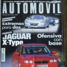 Coches: REVISTA AUTOMOVIL NÚMERO 281 DE JUNIO 2001 JAGUAR OPEL SPEEDSTER . Lote 75214987