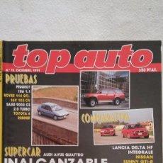Coches: TOP AUTO Nº 12, AÑO 1991. Lote 75918739
