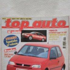 Coches: TOP AUTO Nº 91, AÑO 1997. Lote 75966023