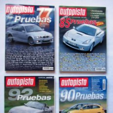 Coches: PRUEBAS AUTOPISTA. LOTE DE 4 REVISTAS (ESPECIALES 2000/01/02/03). Lote 76518671