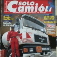 Coches: REVISTA SOLO CAMION N. 77 DE ABRIL 1996 G P CATALUÑA CAMIONES MERCEDES-BENZ VITO . Lote 117346386