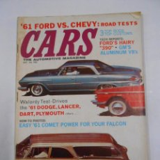 Coches: CARS THE AUTOMOTIVE MAGAZINE 61 FORD VS CHEVY: ROAD WALORDY TEST-DRIVES OCTOBER 60 CALIFORNIA TDKR60. Lote 34344653