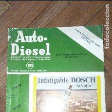 Coches: AUTO-DIESEL REVISTA TÉCNICA Y PROFESIONAL DE AUTO-MECÁNICA Y AVIACIÓN Nº 192 JUNIO 1976. Lote 79278913