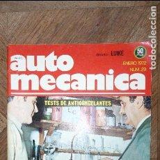 Coches: AUTOMECÁNICA REVISTA MENSUAL PARA EL EXPERTO EN AUTOMOVILES Nº 29 ENERO 1972 . Lote 79889665