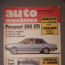 Coches: AUTO MECÁNICA Nº 2 - FEBRERO 1981. Lote 79944229