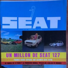 Coches: REVISTA AUTOMÓVIL SEAT N. 141 SEAT 127. Lote 182445088