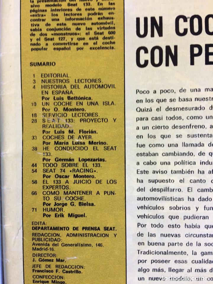 Coches: Revista automóvil Seat n. 88 de junio 1974 Seat 133 - Foto 2 - 80074354