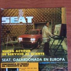 Coches: REVISTA AUTOMÓVIL SEAT N. 127- 128 NOVIEMBRE DICIEMBRE 1977. Lote 80081857