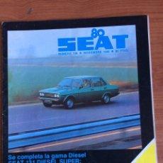 Coches: REVISTA AUTOMÓVIL SEAT N. 158 DE NOVIEMBRE 1980 SEAT 131. Lote 80082690