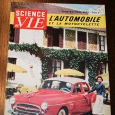 Carros: SCIENCE ET VIE - NUMERO HORS-SÈRIE - AOÛT 1955 - EN FRANCÉS. Lote 260854735