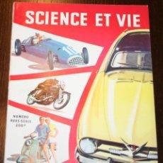Carros: SCIENCE ET VIE - NUMERO HORS-SÈRIE - OCTOBRE 1953 - EN FRANCÉS. Lote 260854865