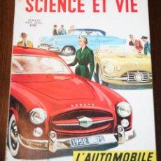Carros: SCIENCE ET VIE - NUMERO HORS-SÈRIE - OCTOBRE 1952 - EN FRANCÉS. Lote 80093201
