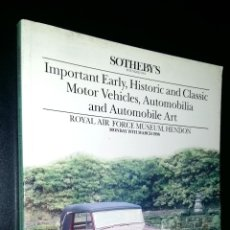 Coches: SOTHEBY´S / HISTORIC AND CLASSIC MOTOR VEHICLES, AUTOMOBILIA, AUTOMOBILE ART / HENDON / MARCH 1990. Lote 80724746
