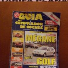 Coches: REVISTA GUIA DEL COMPRADOR DE COCHES ABRIL 1998 RENAULT MEGANE FRENTE A VW GOLF . Lote 82000192