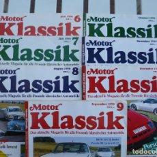 Coches: MOTOR KLASSIK. LOTE 7 REVISTAS. Lote 84292068