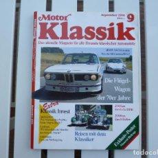 Coches: MOTOR KLASSIK. REVISTA Nº 9 SEPTIEMBRE 1990. Lote 84293972