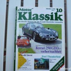 Coches: MOTOR KLASSIK. REVISTA Nº 10 OCTUBRE 1990. Lote 84294688