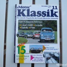 Coches: MOTOR KLASSIK. REVISTA Nº 11 NOVIEMBRE 1990. Lote 84295284