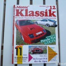 Coches: MOTOR KLASSIK. REVISTA Nº 12 DICIEMBRE 1990. Lote 84295984