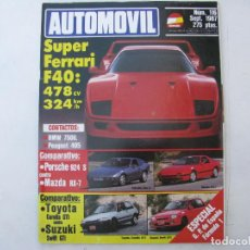 Coches: REVISTA AUTOMOVIL FORMULA Nº 116 - FOTO SUMARIO - PORSCHE 924 S - MAZDA RX-7 - SUZUKI SWITT GTI. Lote 85171088