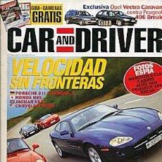 Coches: CAR AND DRIVER Nº 18 PORSCHE 911 HONDA NSX JAGUAR XK8 CHRYSLER VIPER. Lote 85923372