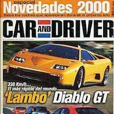 Coches: CAR AND DRIVER Nº 51 AUDI TT PORSCHE BOXTER LAMBORGHINI DIABLO. Lote 86047648