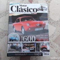 Coches: MOTOR CLASICO Nº 310,SEAT 600 SERRA, ASTON MASTIN MK ROADSTER, INIMOG 416, V W CORRADO. Lote 195183472