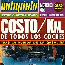 Coches: AUTOPISTA 780 CHRISTIAN HUET COSTE KM MERCEDES 450. Lote 87436592