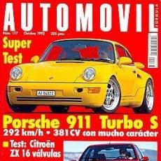 Coches: AUTOMOVIL 177 PORSCHE 911 CITROEN ZX HONDA CIVIC. Lote 87591308