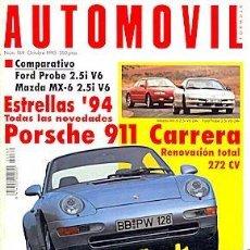 Coches: AUTOMOVIL 189 PORSCHE 911 CARRERA FORD PROBE MAZDA MX-6 MASERATI GHIBLI. Lote 87595816