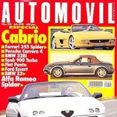 Coches: AUTOMOVIL 210 ALFA GTV / SPIDER SAAB 900 PORSCHE 911 CARRERA 4 CABRIO. Lote 88133988