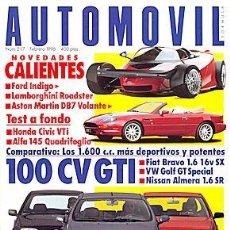 Coches: AUTOMOVIL 217 ASTON MARTIN DB7 / LOTUS ESPRIT S4 / PORSCHE 911 TURBO / FERRARI F355 CIVIC VTI. Lote 88136792