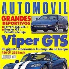 Coches: AUTOMOVIL 222 DODGE VIPER FERRARI 456 BENTLEY VOLVO 850 R SEAT CORDOBA SX 16V. Lote 88141744