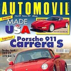Coches: AUTOMOVIL 229 PORSCHE 911 CARRERA SEAT IBIZA CUPRA CHEVROLET CORVETTE BMW 325TDS. Lote 88283112