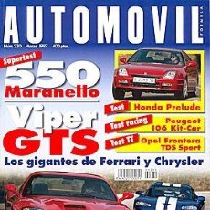 Coches: AUTOMOVIL 230 FERRARI 550 MARANELLO / CHRYLER VIPER GTS HONDA PRELUDE PEUGEOT 106 KIT CAR. Lote 88283924