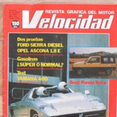 Coches: VELOCIDAD Nº 1126 (23 ABRIL 1983) YAMAHA 400, FORD SIERRA. OPEL ASCONA. ISDERA, SEAT PANDA TERRA,. Lote 89662096