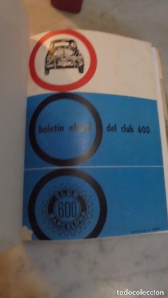 (M) 600 - REVISTA CLUB 600 - 1963-1967 - DEL Nº 1 AL 44+ 1 EXTRAORDINARIO - EN 2 VOLUMENES - VOL.I (Coches y Motocicletas Antiguas y Clásicas - Revistas de Coches)