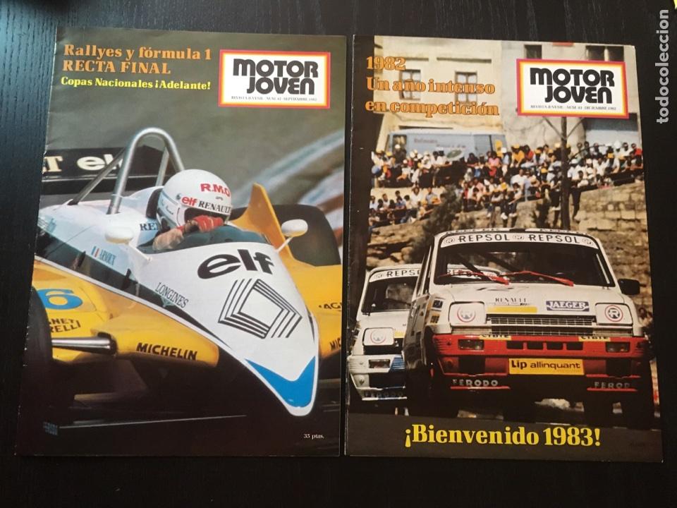 MOTOR JOVEN 2 REVISTAS CON POSTER 42,43 .1982 (Coches y Motocicletas Antiguas y Clásicas - Revistas de Coches)