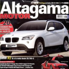 Coches: REVISTA ALTAGAMA MOTOR Nº 83, BMW X1. Lote 54156909