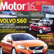 Coches: REVISTA MOTOR 16, Nº 1390, 2010, VOLVO S60. Lote 46248661