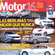 Coches: REVISTA MOTOR 16, Nº 1409, 2010, BMW 320D LAND ROVER. Lote 46249053