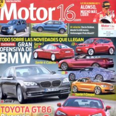 Coches: REVISTA MOTOR 16, Nº 1502, 2012, BMW SERIE 7. Lote 46252384