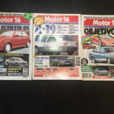 Coches: MOTOR 16 NUMEROS :255,260,265. 1988. Lote 90893054
