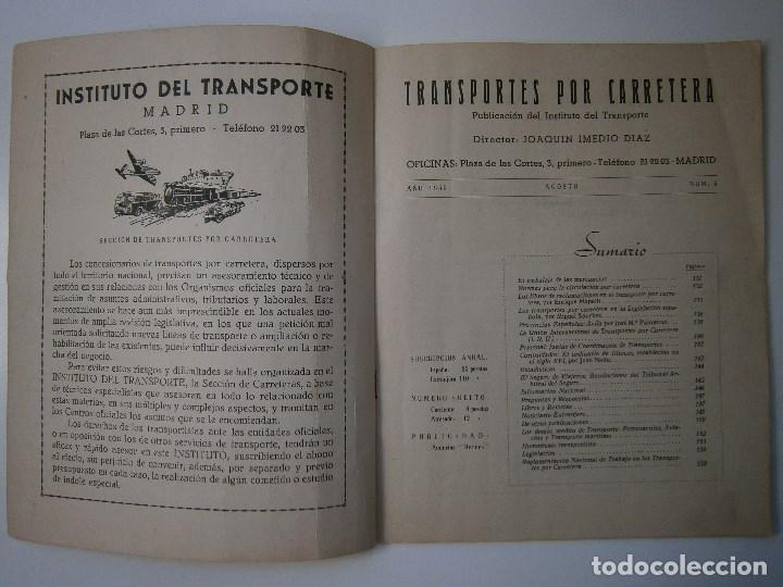 Coches: TRANSPORTES POR CARRETERA 5 Publicacion del instituto del transporte 1950 - Foto 3 - 91658745
