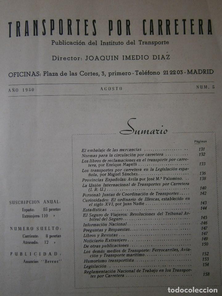 Coches: TRANSPORTES POR CARRETERA 5 Publicacion del instituto del transporte 1950 - Foto 4 - 91658745