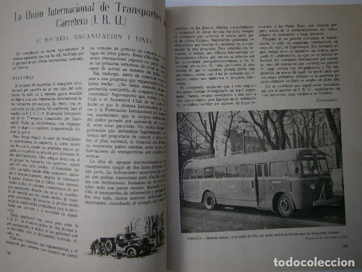 Coches: TRANSPORTES POR CARRETERA 5 Publicacion del instituto del transporte 1950 - Foto 6 - 91658745