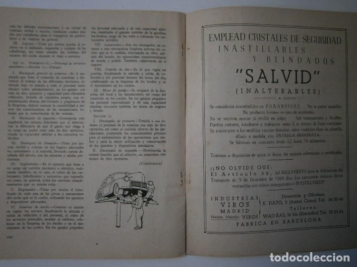Coches: TRANSPORTES POR CARRETERA 5 Publicacion del instituto del transporte 1950 - Foto 8 - 91658745