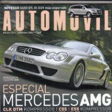 Coches: REVISTA AUTOMOVIL Nº 332 AÑO 2005. PRUEBA: MERCEDES CLK DTM AMG. MERCEDES CLS55 AMG KOMPRESSOR. . Lote 91712110